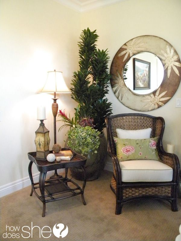 Room by room decorating secrets cozy chair vignettes for Room decor ideas sara beauty corner