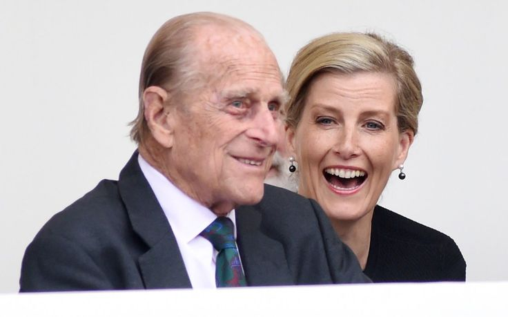 The Duke of Edinburgh shares a laugh with the Countessof Wessex   Queen's 90th birthday weekend: Trooping the Colour parade & Mall street party, in pictures - News