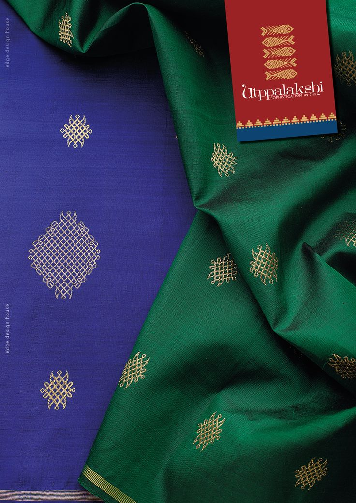 Blue & green should always be seen when it is from us. Kolams galore. What a way to welcome. #Utppalakshi #Sareeoftheday#Silksaree#Kancheevaramsilksaree#Kanchipuramsilks #Ethinc#Indian #traditional #dress#wedding #silk #saree#craftsmanship #weaving#Chennai #boutique #vibrant#exquisit #pure #weddingsaree#sareedesign #colorful #elite