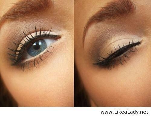 Nude eye makeup for blue eyes