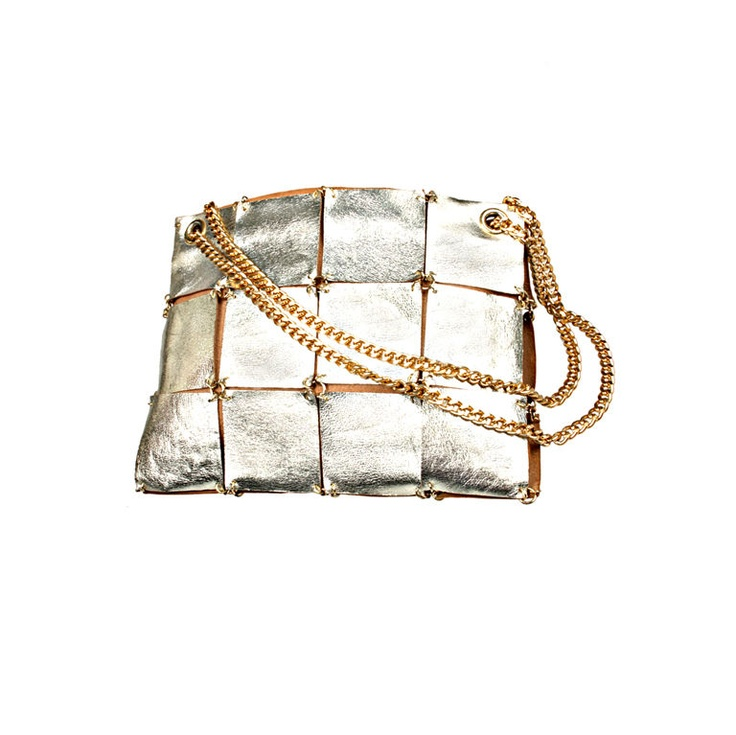 Leather handbag by Paco Rabanne