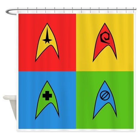 Shower curtain, on Star Trek Bathroom and Bedroom | For the Geek in You