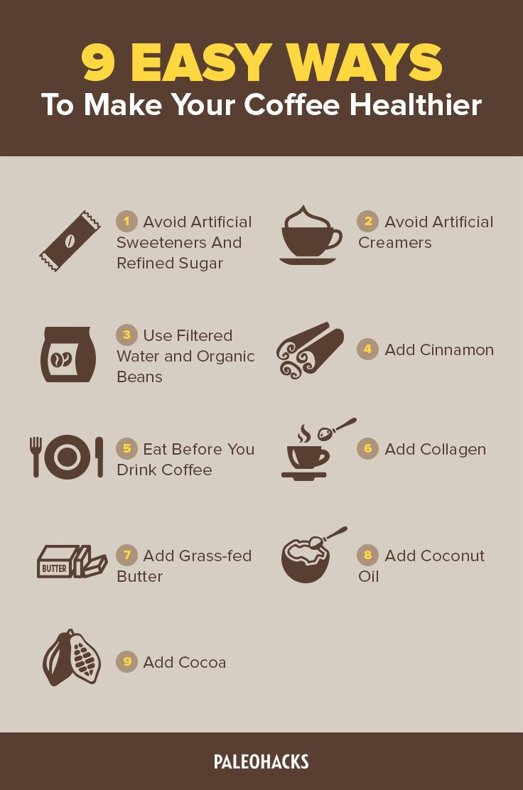 How to make coffee healthier