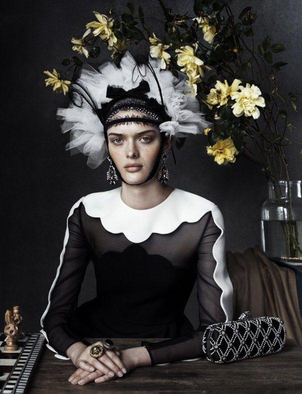 Anna Ewers, Ashleigh Good, Sam Rollinson by Josh Olins for Vogue UK December 2013