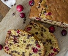 Orange Cranberry Loaf with Chocolate Chips