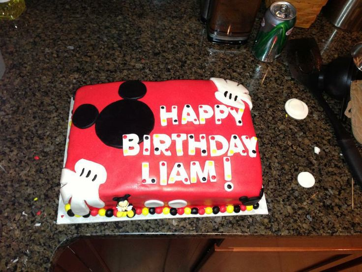 D Mickey Mouse Birthday Cake