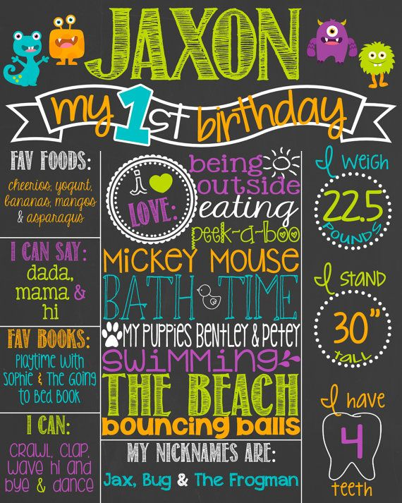 The 25 best First birthday board ideas on Pinterest First