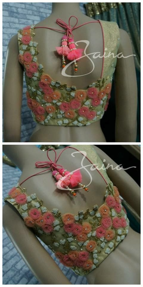 flowers blouse design