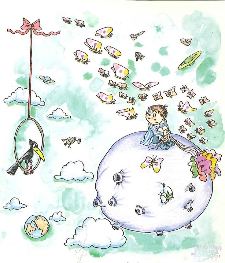 Las Aventuras de Flor y Mosquín de cuento de Antoni Cuadrench; ilustraciones de Pilarín Bayés. Publicado por La Galera, 1987.