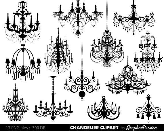 Lámpara Clip Art Scrapbooking araña gráfico por GraphicPassion