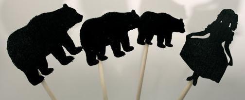 Boucle d'or et les trois ours en ombres chinoises