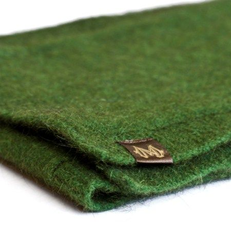 Possum and Merino Wool scarf from the softest New Zealand materials - Available in a beautiful meadow green colour - Global Culture