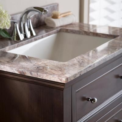 Home Decorators Collection 31 in. Stone Effects Vanity Top in Cold Fusion with White Basin-SER31-CO - The Home Depot