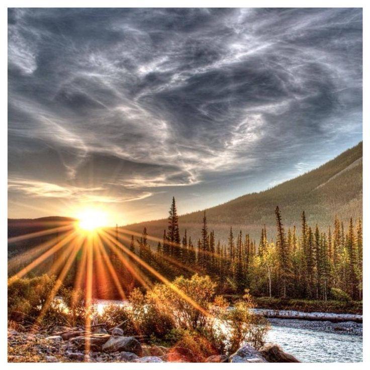 Sunrise - Elbow River, Alberta, Canada
