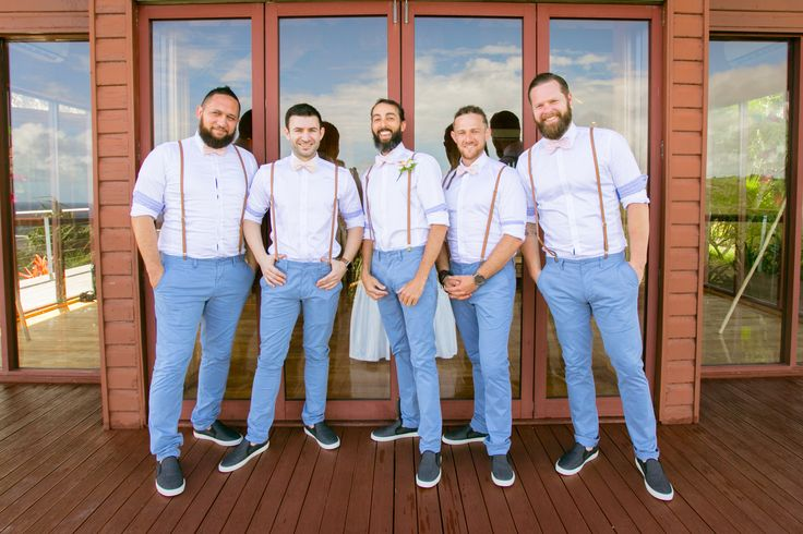 Outrigger Fiji Beach Resort Wedding Groom Groomsmen Vintage Look Suspenders Beards Men Chapel Tropical Paradise Garden Style Planning Planner Ideas