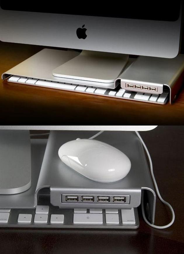 Love this idea. I'd probably use all the ports too! LowKey iMac USB Stand