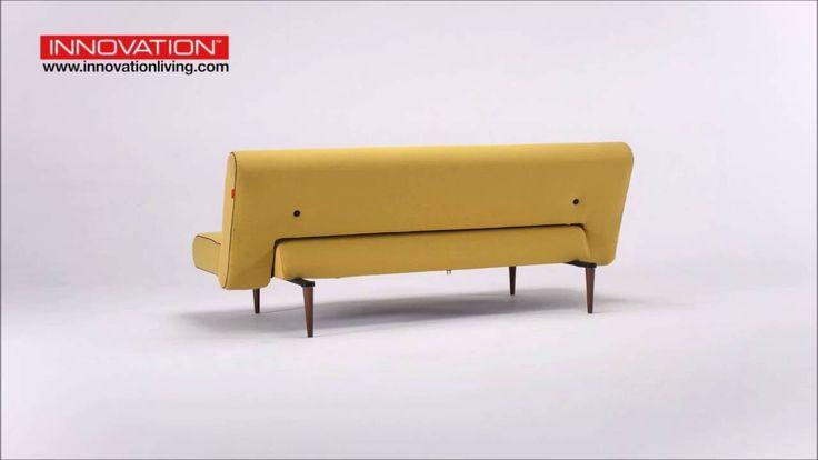 Innovation Living Unfurl Dark Wood Sofa Bed
