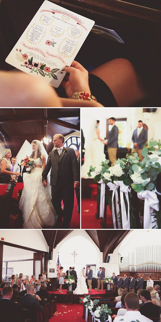 classic chapel wedding with cute programs