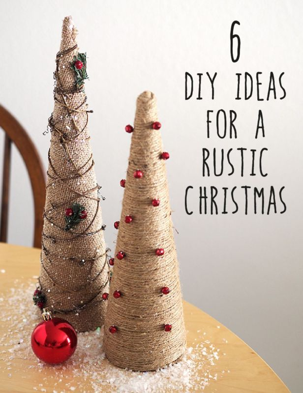 Bring a little country cabin charm this Christmas with these simple DIY ideas