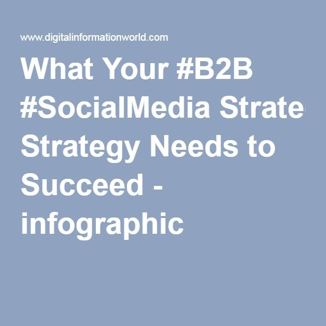 What Your #B2B #SocialMedia Strategy Needs to Succeed - infographic