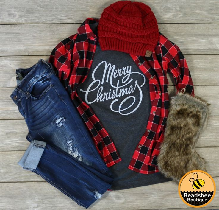 Our Merry Christmas tees are fabulous and the perfect tee to wear while doing all your Christmas shopping! They look great with a jacket or cardigan and your most comfy leggings or skinnies! XS-XL