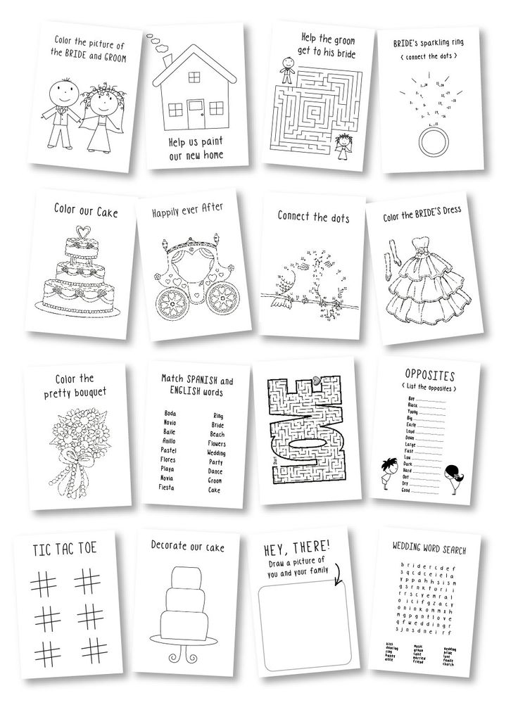 Marriage ceremony favor for teenagers / youngsters wedding ceremony coloring e book / youngsters wedding ceremony actions / rustic wedding ceremony exercise e book / youngsters wedding ceremony desk – Set of 6