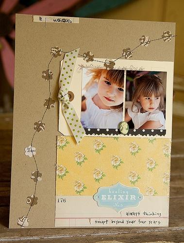 sew it: Inspiration Scrapbook, Scrapbook Layout