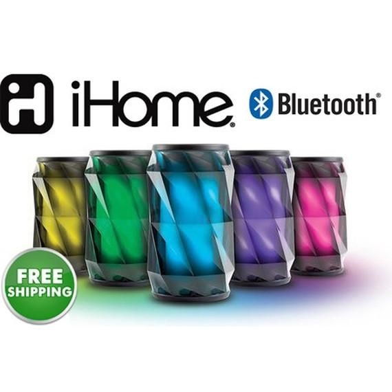 iHome Color-Changing Wireless Bluetooth Rechargeable Mini Speaker System