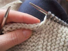 Knitting And Picking Up Stitches : Tutorial on how to pick up stitches; difference between pick up/pick up and k...