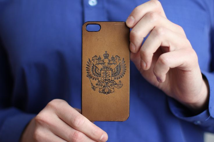 "iPhone case ""Russia"". The material of product is the natural leather. There is burned image of the Russian Emblem on the front part. We will can make specially case for your cellphone with your image. 18.69$ (isn't including shipping) #leathercase #tablet #iphone #handmade #russianhandmade #russian #russian_handmade #naturalleather #leather #cover #russianemblem #case"