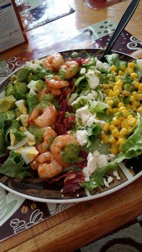 Shrimp avocado salad with cilantro lime vinaigrette