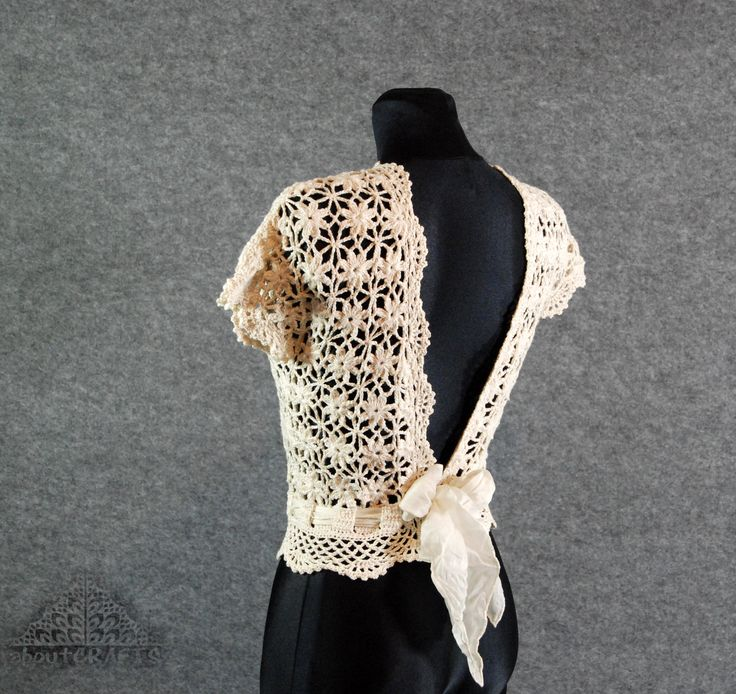 Wedding dress topper, Lace top wedding, Ivory lace top, Lace top bridesmaid, Crochet lace top, Wedding top, Modest wedding dress by aboutCRAFTS on Etsy