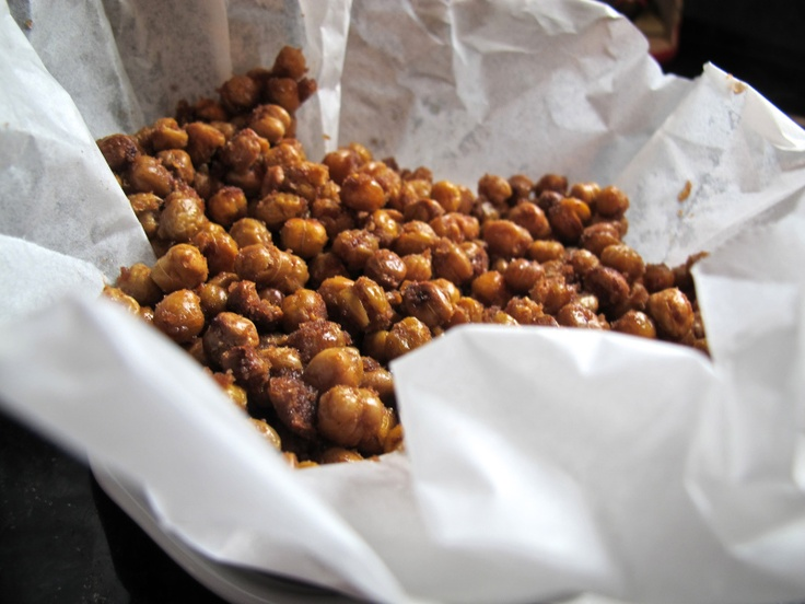 Sweet and salty roasted chickpeas | Cook | Pinterest