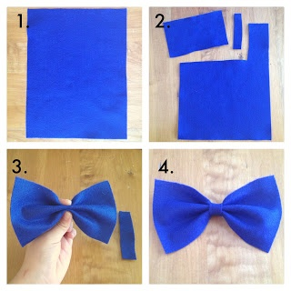 DIY hair bows ( or you could hot glue a safety pin on the back for a Bow Tie)