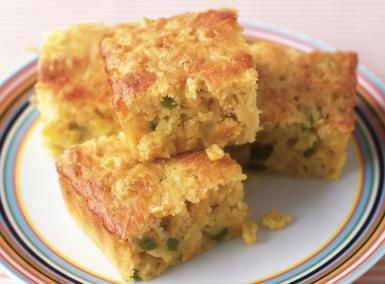 Baked Mexican Cornbread with Cream Corn and Bell Pepper: Mexican Cornbread With Peppers