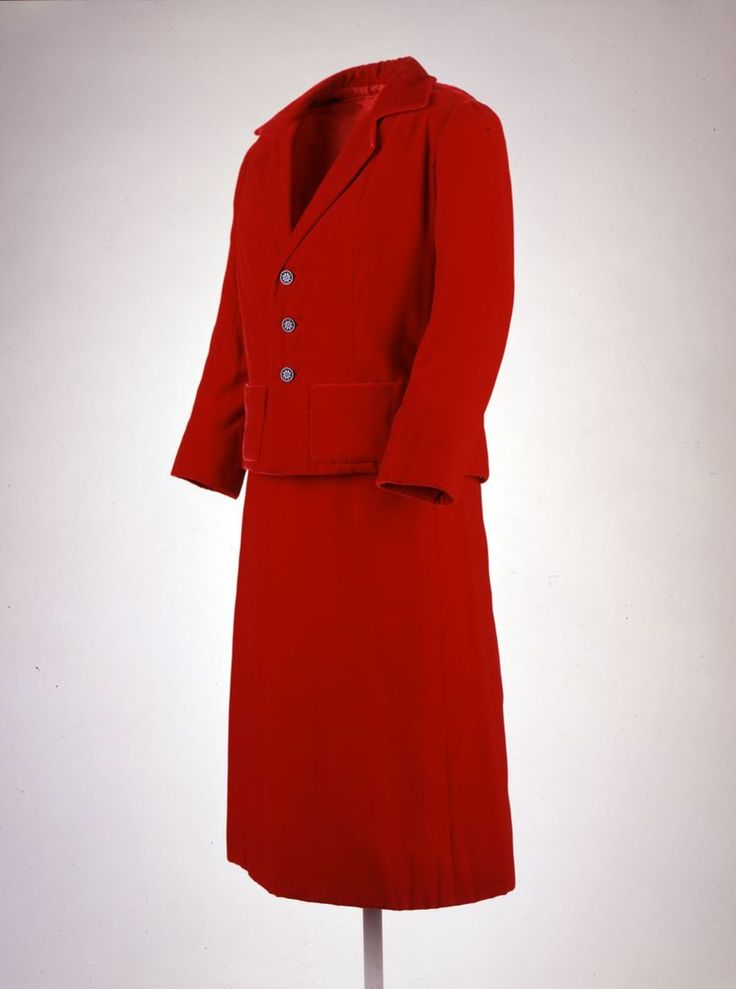 Ruby Red Suit: Jacket and Skirt