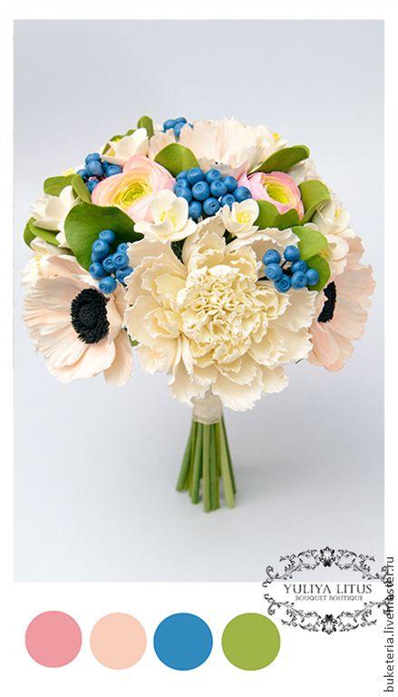 Букет невесты - букет невесты,букет из глины,букет из полимерной глины