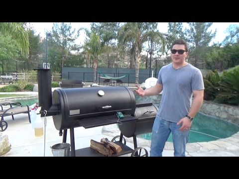 Ribs on Lonestar Grillz offset smoker with BBQ Guru - YouTube