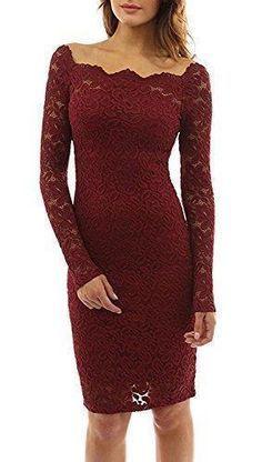 Oferta: 7.32€. Comprar Ofertas de Minetom Mujeres Vestido Encaje Bodycon Corto Con Manga Larga Casual Slim Falda Para Fiesta Mini Dress (ES 38, Vino Rojo) barato. ¡Mira las ofertas! #bodycondresscasual