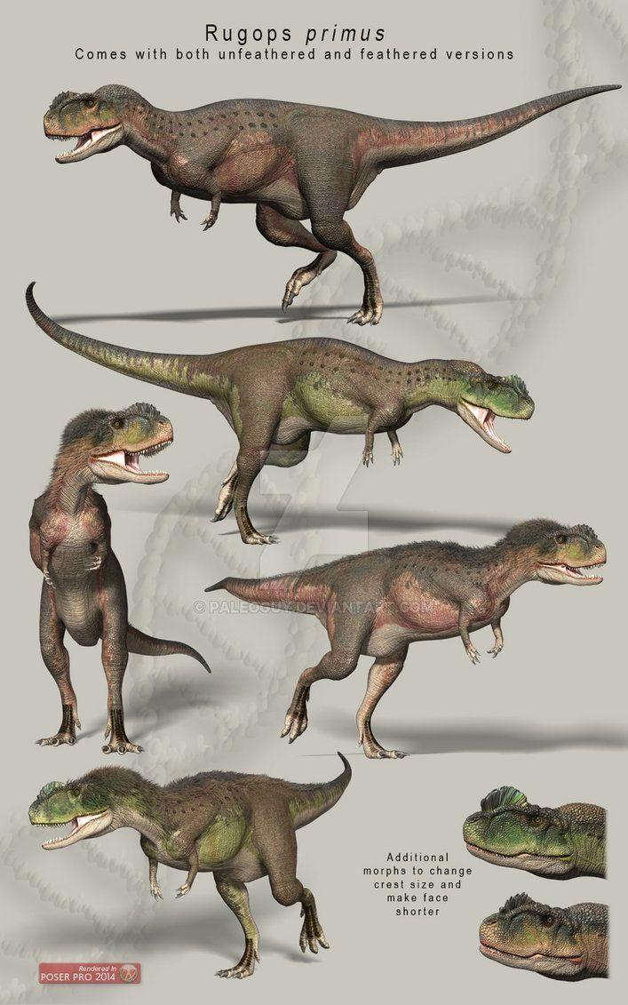 Rugops primus; Late Cretaceous (95 Ma); Theropoda; Described by Sereno et al., 2004; Artwork by PaleoGuy on DeviantArt
