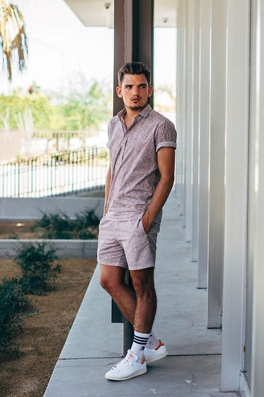 Cos Shirt, Cos Shorts, Raf Simons Sneakers #fashion #mensfashion #menswear #mensstyle #streetstyle #style #outfit #ootd