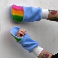 truley awesome! From poppyswickedgarden.com My Little Pony Custom plush fingerless Glove Hooves MeMe Rainbow dash MLP FIM - Thumbnail 1