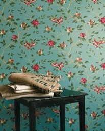 Zoffany Manchu Turquoise 10.05 X 0.68 m Rapport 46 cm 850 kr/rulle