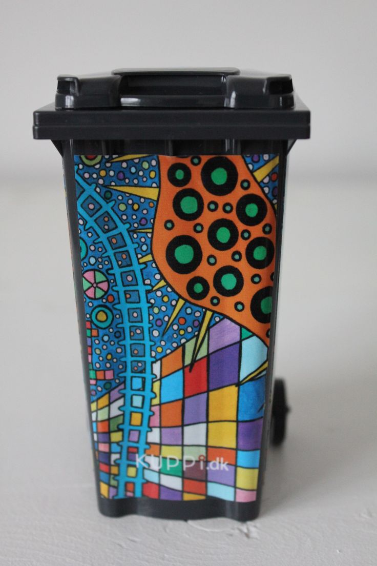 Get a new bin look! This is art !
