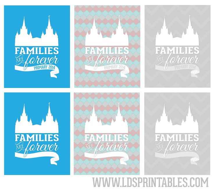 Families Are Forever - Primary 2014 Theme