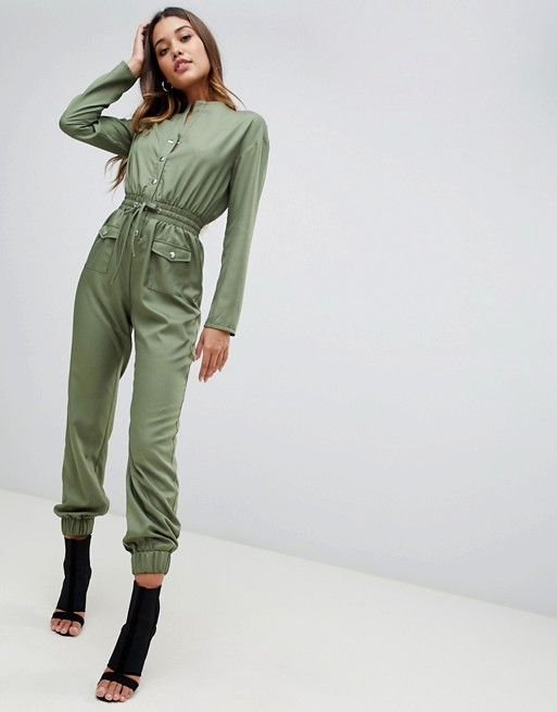 acb761d7a9bf New In Clothing for Women. PrettyLittleThing utility jumpsuit in khaki
