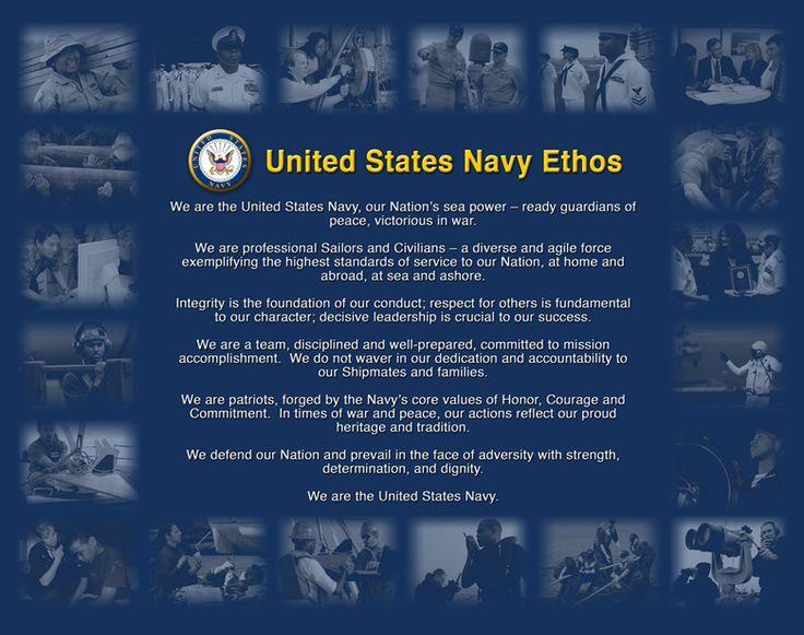 #USNavy Ethos - We are the United States Navy.