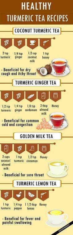 HEALTHY TURMERIC TEA RECIPES