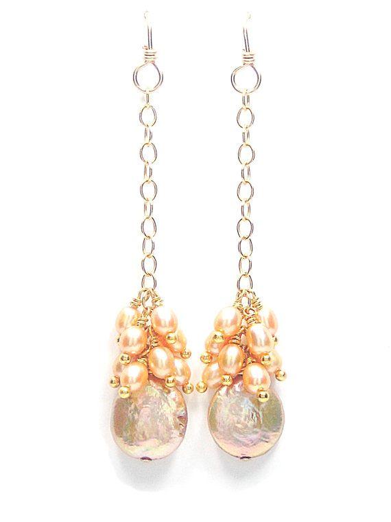 Golden Sunset Earrings - Perfect for a beach bride