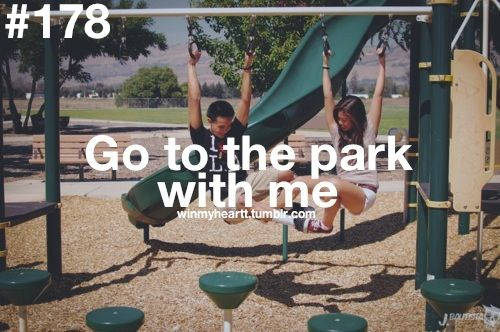 Single and looking for a man who… will go to the park with me. Via WinMyHeart on Tumblr.